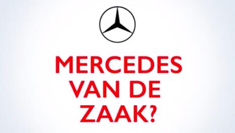 Mercedes van de zaak!